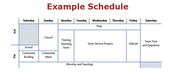 SeedServe Schedule
